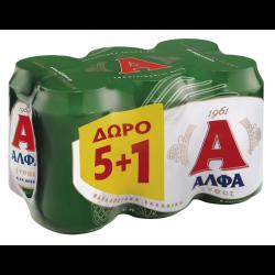 ΑΛΦΑ ΜΠΥΡΑ ΚΟΥΤΙ 330ΜL(5+1)            !