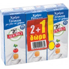 KPEMA ΓAΛAKTOΣ ADORO 35% 3X200ML(2+1ΔΩPO)