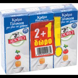 ΚΡΕΜΑ ΓΑΛΑΚΤΟΣ ΑDΟRΟ 35% 3Χ200ΜL(2+1ΔΩΡΟ)