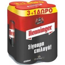 ΜΠΥΡΑ KOYTI HENNINGER 500ML(3+1)