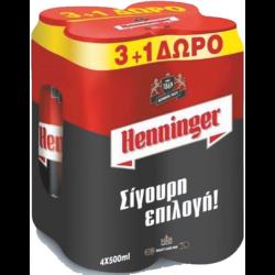 ΜΠΥΡΑ ΚΟΥΤΙ ΗΕΝΝΙΝGΕR 500ΜL(3+1)