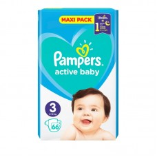 PAMPERS ACTIVE BABY 3(6-10KG) 66T