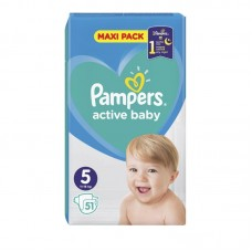 PAMPERS ACTIVE BABY 5(11-16KG) 51T