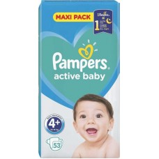 PAMPERS ACTIVE BABY DRY 4+(9-16K)53T