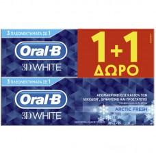 ORAL-B OΔ/MA 3D ARTIC FRESH 75ML(1+1)