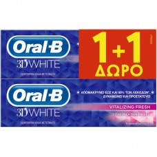 ORAL-B OΔ/MA 3D VITALIZ.FRESH 75ML(1+1)
